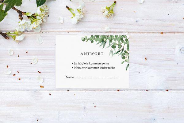 Antwortkarten zur Hochzeit Laubfall Schattig Antwortkarten