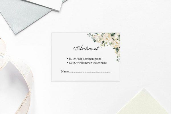Antwortkarten zur Hochzeit Blumenherz Duftend Antwortkarten