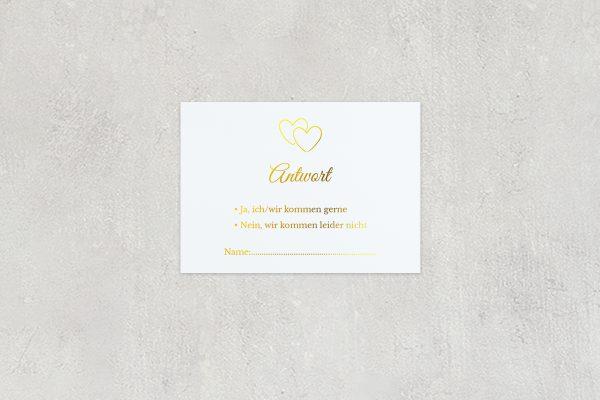 Antwortkarten zur Hochzeit Herzensangelegenheit verschlungen Antwortkarten