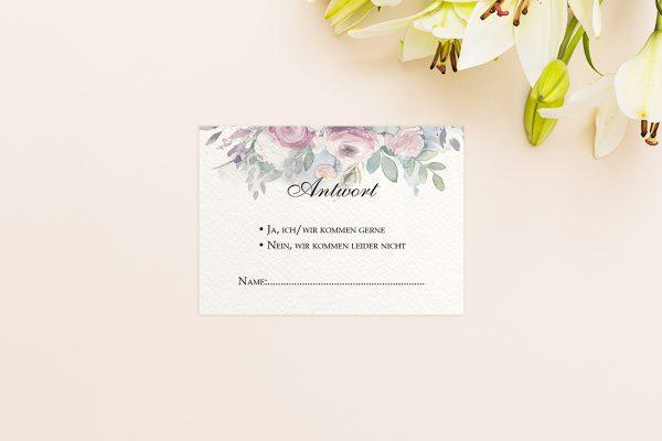 Antwortkarten zur Hochzeit Aquarell Klassisch Antwortkarten
