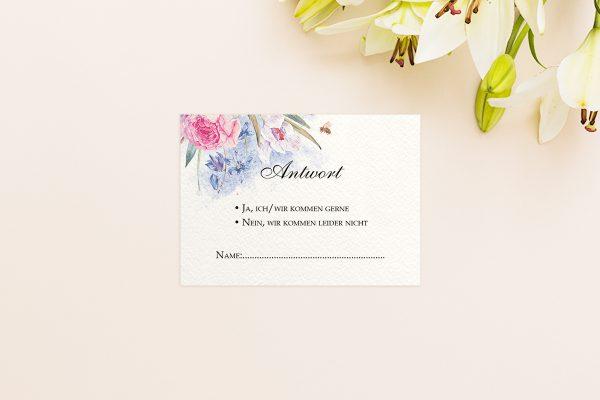 Antwortkarten zur Hochzeit Aquarell edel Antwortkarten