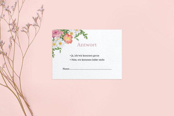 Antwortkarten zur Hochzeit Blumenbeet Apart Antwortkarten