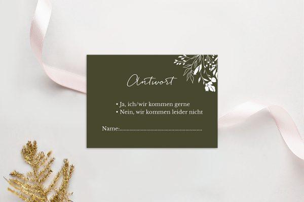 Antwortkarten zur Hochzeit Runde Sache duftend Antwortkarten