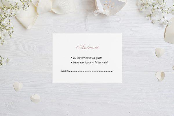 Antwortkarten zur Hochzeit Klassich Verbunden Antwortkarten