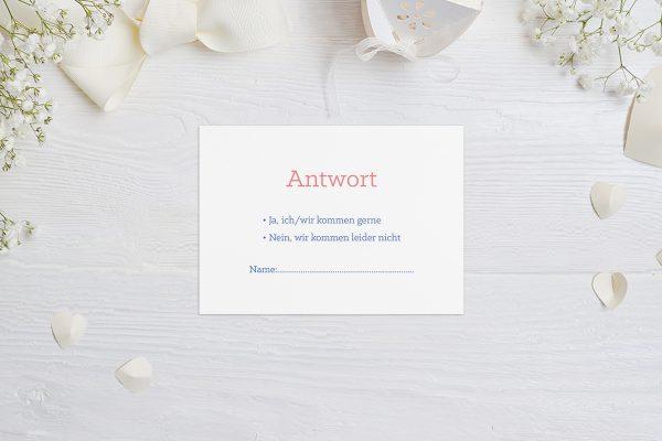 Antwortkarten zur Hochzeit Klassich Cool Antwortkarten