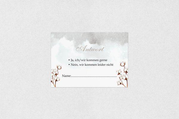 Antwortkarten zur Hochzeit Palmen weich Antwortkarten