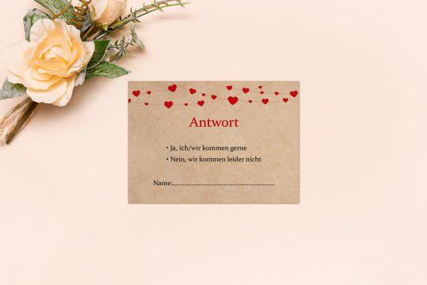 Antwortkarten zur Hochzeit Fingerabdruck Simple Love Antwortkarten