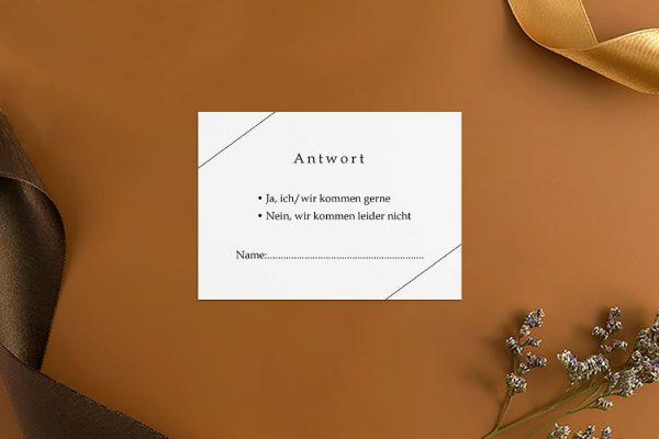 Antwortkarten zur Hochzeit Modern Monogramm quadratisch Antwortkarten