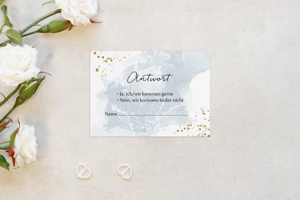 Antwortkarten zur Hochzeit Himmel Tiefblau Antwortkarten