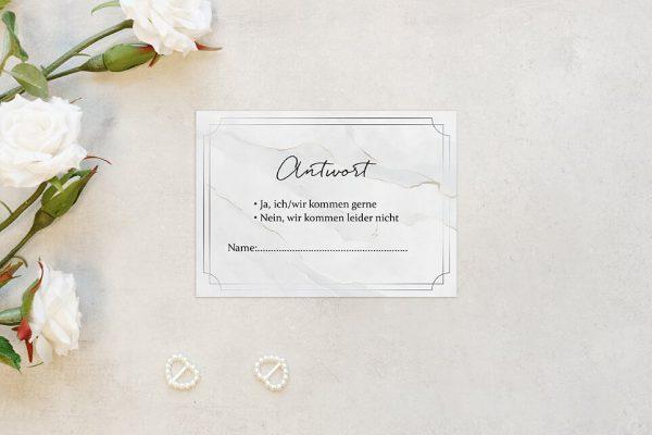 Antwortkarten zur Hochzeit Batik Mittelalterlich Antwortkarten