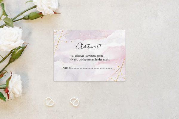 Antwortkarten zur Hochzeit Morgenröte Kräftig Antwortkarten