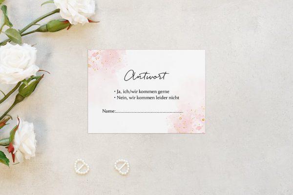 Antwortkarten zur Hochzeit Morgenröte Beeindruckend Antwortkarten