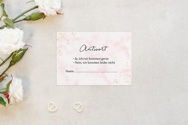 Antwortkarten zur Hochzeit Morgenröte Rosa Hauch Antwortkarten