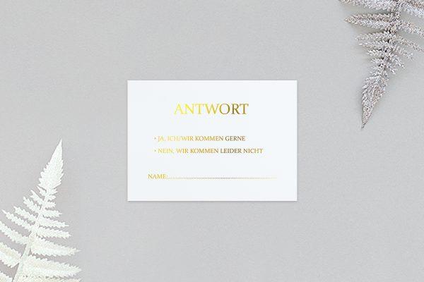 Antwortkarten zur Hochzeit Prachtvoll ungezwungen Antwortkarten