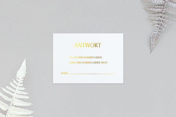 Antwortkarten zur Hochzeit Prachtvoll harmonisch Antwortkarten