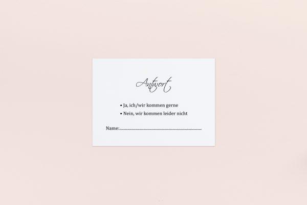 Antwortkarten zur Hochzeit Minimalistisch Sinfonie  Antwortkarten
