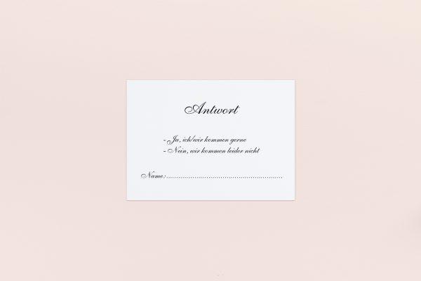 Antwortkarten zur Hochzeit Minimalistisch Sonate Antwortkarten
