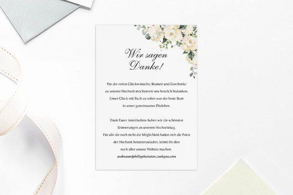 Dankeskarten zur Hochzeit Blumenherz Duftend Dankeskarten