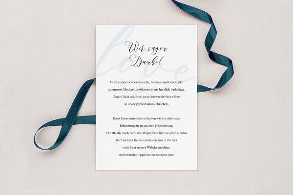Dankeskarten zur Hochzeit Modern Bast Aktuell Dankeskarten