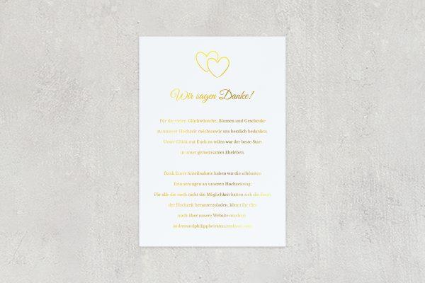 Dankeskarten zur Hochzeit Herzensangelegenheit verschlungen Dankeskarten
