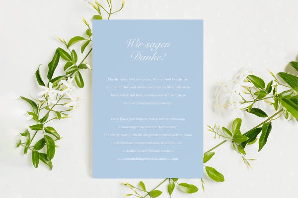 Dankeskarten zur Hochzeit Fotoglam Infinity Dankeskarten