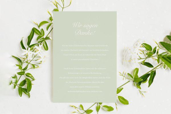 Dankeskarten zur Hochzeit Fotoglam Kalendarium  Dankeskarten