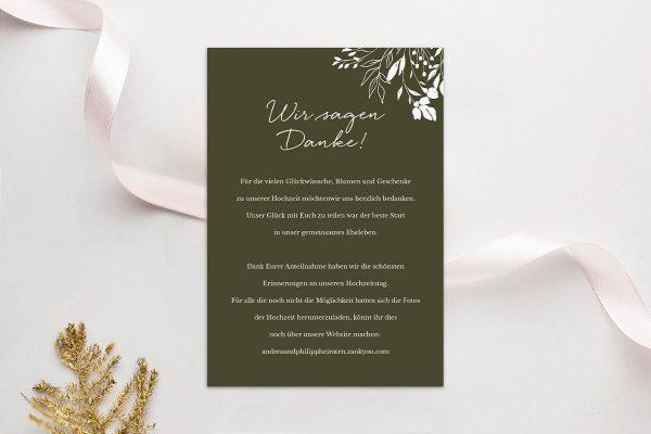 Dankeskarten zur Hochzeit Runde Sache duftend Dankeskarten