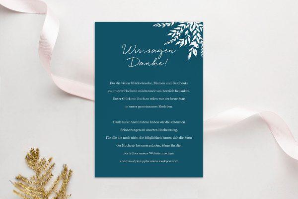 Dankeskarten zur Hochzeit Runde Sache sommerlich Dankeskarten