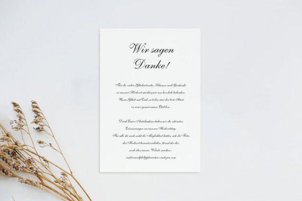 Dankeskarten zur Hochzeit Kalligraphie Pur Dankeskarten