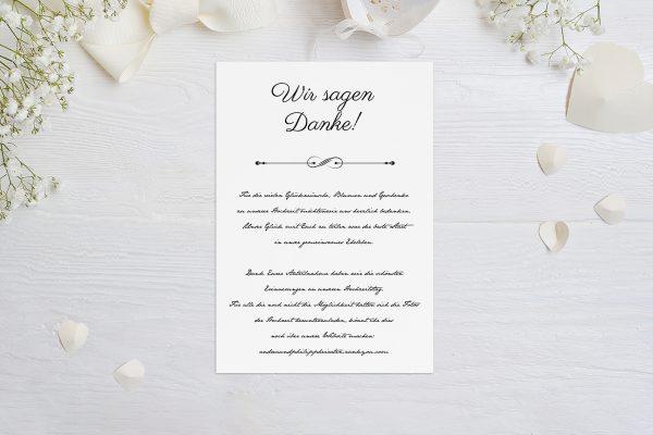 Dankeskarten zur Hochzeit Klassich Unendlich Dankeskarten