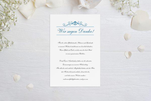 Dankeskarten zur Hochzeit Klassich Verspielt Dankeskarten