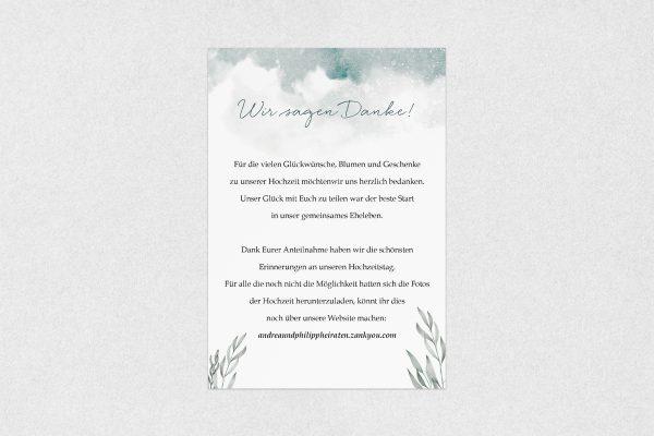 Dankeskarten zur Hochzeit Palmen verträumt Dankeskarten