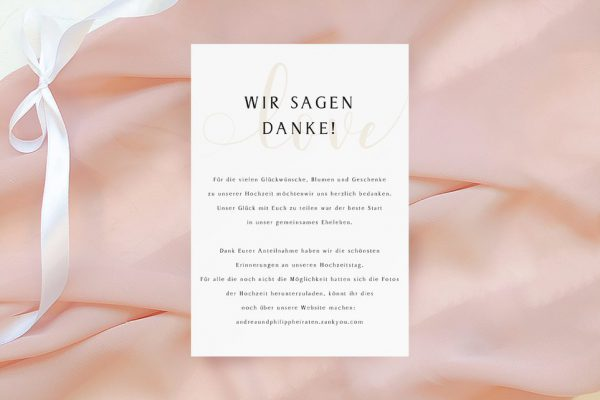 Dankeskarten zur Hochzeit Horizont Unbegrenzt Dankeskarten