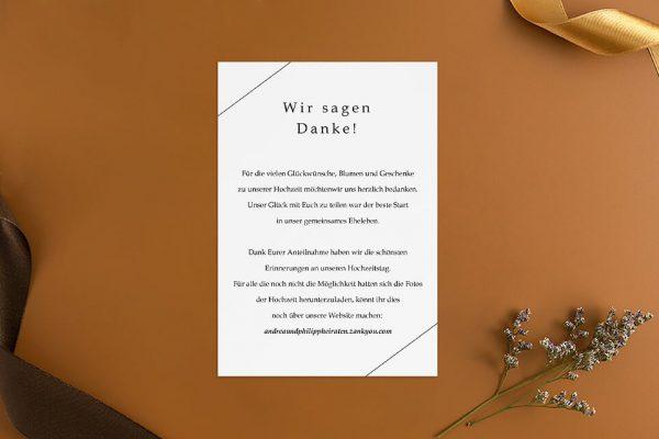Dankeskarten zur Hochzeit Modern Monogramm quadratisch Dankeskarten