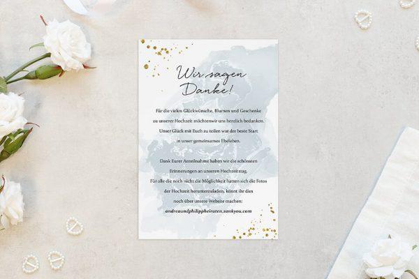 Dankeskarten zur Hochzeit Himmel Tiefblau Dankeskarten