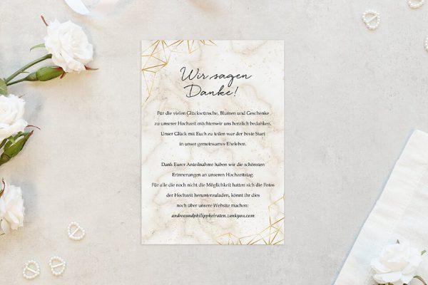 Dankeskarten zur Hochzeit Batik Funkeln Dankeskarten