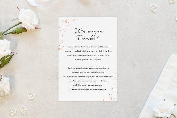 Dankeskarten zur Hochzeit Aprikosen Explosion Frisch Dankeskarten