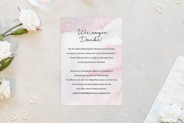 Dankeskarten zur Hochzeit Morgenröte Kräftig Dankeskarten