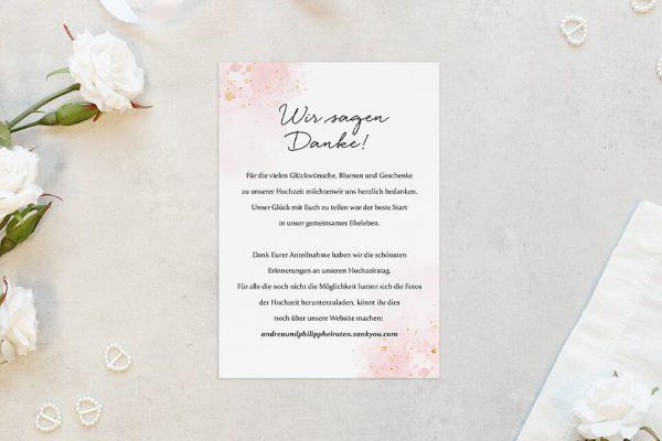 Dankeskarten zur Hochzeit Morgenröte Beeindruckend Dankeskarten