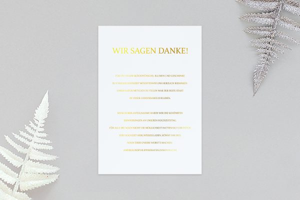 Dankeskarten zur Hochzeit Prachtvoll stilistisch Dankeskarten