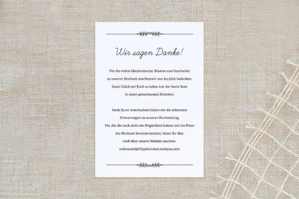 Dankeskarten zur Hochzeit Fotoglück Total Dankeskarten