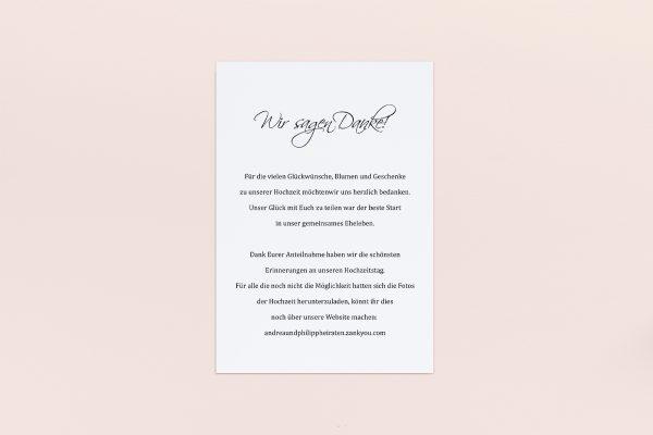 Dankeskarten zur Hochzeit Minimalistisch Sinfonie  Dankeskarten