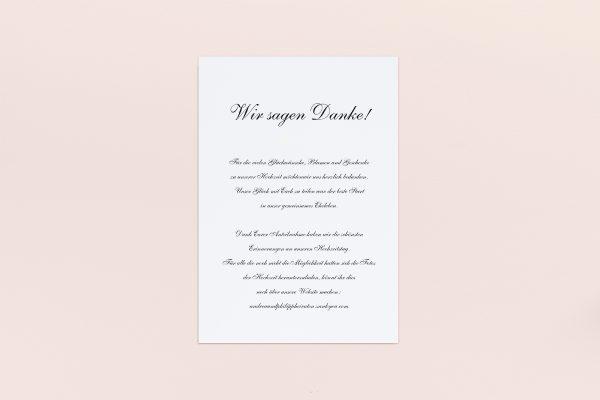 Dankeskarten zur Hochzeit Minimalistisch Sonate Dankeskarten