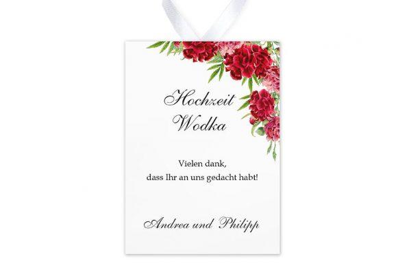 Aufkleber und Anhänger Hochzeit Blumenherz Nelken Aufkleber & Etiketten Hochzeit