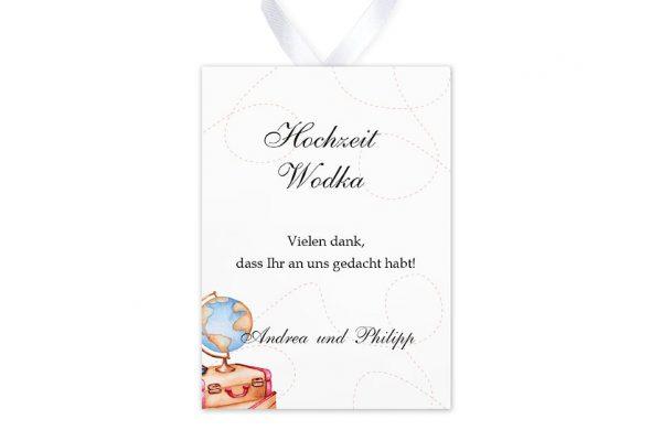 Aufkleber und Anhänger Hochzeit Blumenherz Weltreise Aufkleber & Etiketten Hochzeit