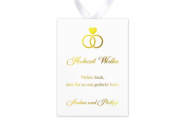 Aufkleber und Anhänger Hochzeit Herzensangelegenheit in Ringform  Aufkleber & Etiketten Hochzeit