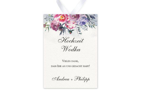 Aufkleber und Anhänger Hochzeit Aquarell Sommerlich Aufkleber & Etiketten Hochzeit