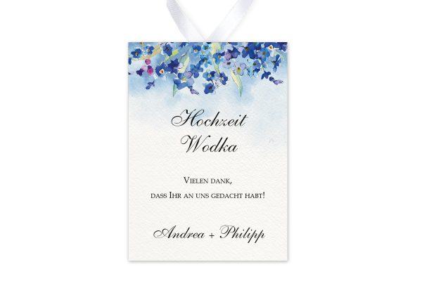 Aufkleber und Anhänger Hochzeit Aquarell Vergissmeinnicht Aufkleber & Etiketten Hochzeit