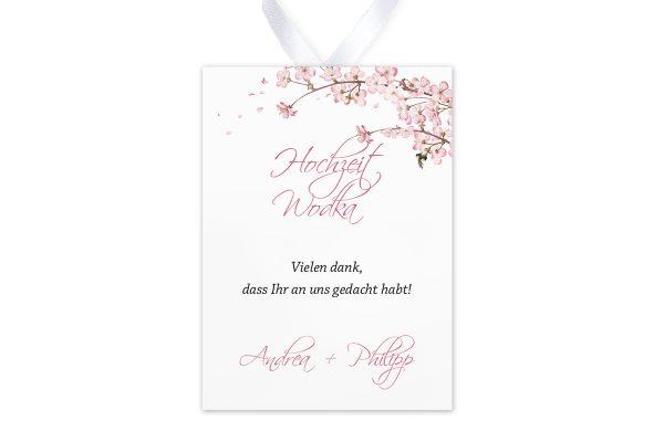 Aufkleber und Anhänger Hochzeit Zeichnung Kirschblüte Aufkleber & Etiketten Hochzeit