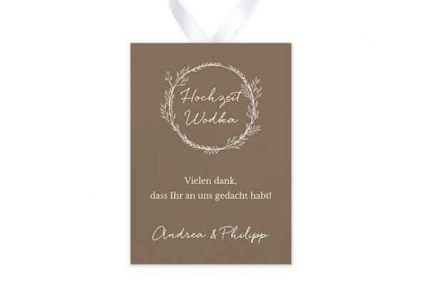 Aufkleber und Anhänger Hochzeit Aufnahme mit stilisiertem Kranz Aufkleber & Etiketten Hochzeit